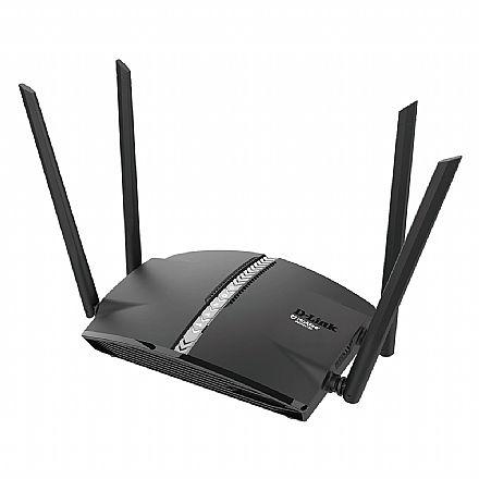 Roteador Wi-Fi D-Link EXO Smart Mesh DIR-1360 AC1300 - Gigabit - Dual Band 2.4 GHz e 5 GHz - Tecnologia MU-MIMO - Tecnologia Wi-Fi MESH - Controle de Voz por Assistentes Google e Alexa