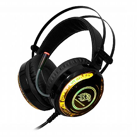 Headset Gamer K-Mex ARS9 - LED RGB - Conector 3.5mm e USB - AR-S9300