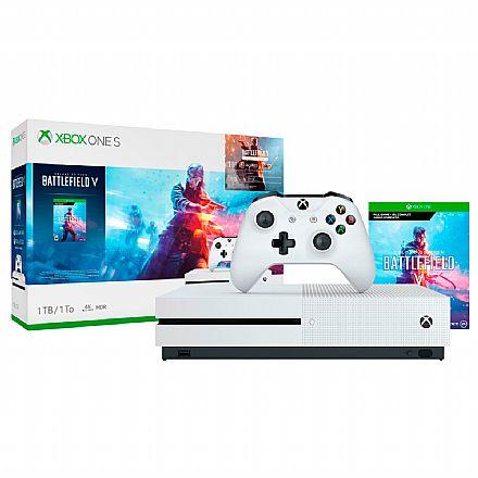 Console Microsoft Xbox One S 1TB Branco + Game Battlefield V - 234-00877