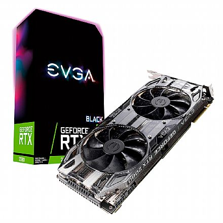 GeForce RTX 2080 8GB GDDR6 256bits - Black Edition Gaming - EVGA 08G-P4-2081-KR