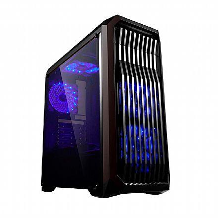 Gabinete Gamer Bluecase BG-019 - USB 3.0 - Janela Lateral de Acrílico