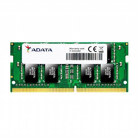 Memória SODIMM 8GB DDR4 2400MHz Adata - para Notebook - AD4S240038G17-S