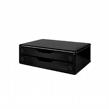 Suporte para TV/Monitor de Mesa - com 2 Gavetas - Black Piano - 3346