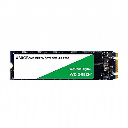 SSD M.2 480GB Western Digital Green - Leitura 545 MB/s - WDS480G2G0B