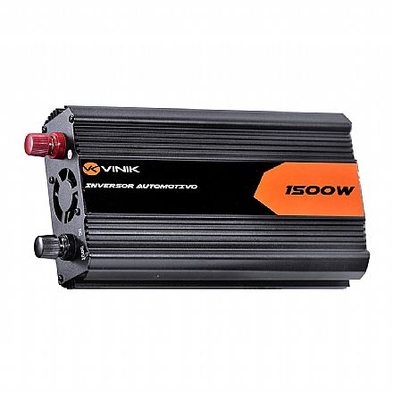 Inversor de corrente elétrica automotivo - 1500W - converte 12V para 127V - Ideal para alimentar portáteis dentro do veiculo - Vinik IAQ-1500W