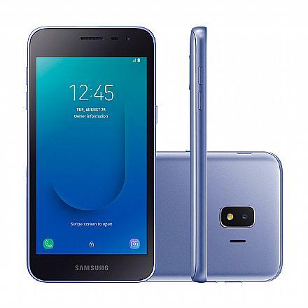 "Smartphone Samsung Galaxy J2 Core - Tela 5"" qHD, 16GB, Dual Chip 4G, Câmera 8MP - Prata - SM-J260M"