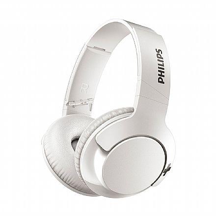 Fone de Ouvido Bluetooth Philips SHB3175WT/00 - Dobrável - com Microfone - Branco