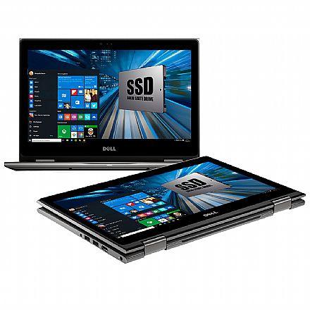 "Notebook Dell Inspiron i13-5378-R30C 2 em 1 - Tela 13.3"" Touch Full HD, Intel i7 7500U, 16GB, SSD 480GB, Windows 10 - Garantia 1 ano - Seminovo"