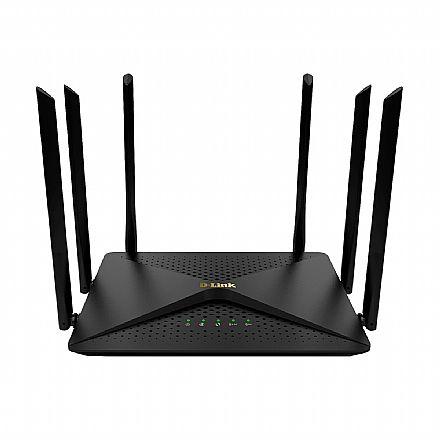 Roteador Wi-Fi D-Link DIR-846 AC1200 - Gigabit - Dual Band 2.4 GHz e 5 GHz - MU-MIMO e SmartBeam - 6 Antenas de 5dBi