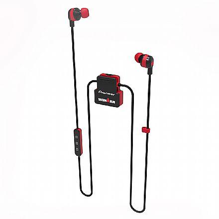 Fone de Ouvido Esportivo Bluetooth Intra-Auricular Pioneer SE-IM5BT-R - com Microfone - Resistente a suor - Vermelho [i]