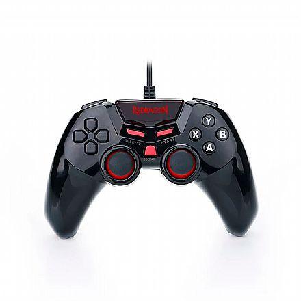 Controle Gamepad Redragon Seymour 2 G806 para PC e PS3 - com Vibração e D-input - USB