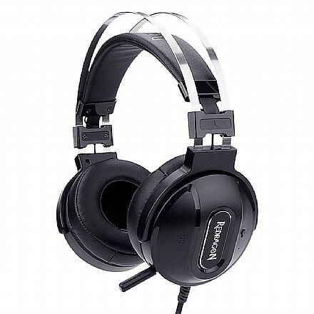 Headset Redragon Ladon 7.1 - USB - Controle de Volume e Vibração - com Cancelamento de Ruidos Ativo - H990
