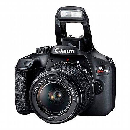 Canon EOS Rebel T100 Profissional com Lente 18-55 - 18 Mega Pixels - Sensor CMOS APS-C - DIGIC 4+ - Wi-Fi, NFC - Vídeo Full HD