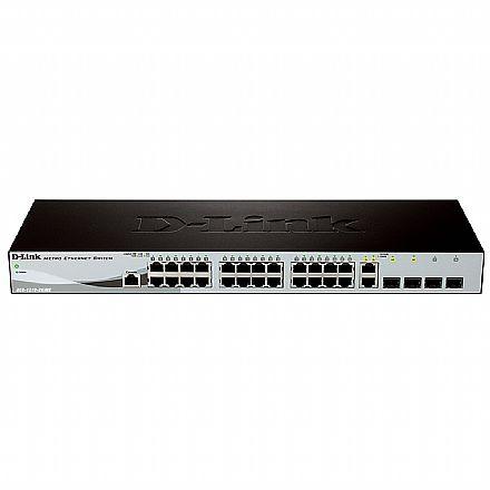 Switch 24 portas D-Link DES-1210-28/ME - 24 portas 10/100 Mbps + 4 portas Combo SFP