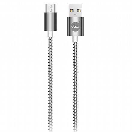 Cabo Micro USB para USB - 90cm - Cinza - Metal Entrelaçado - Dazz 6013667