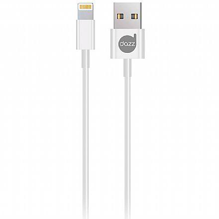 Cabo Lightning para USB - Para iPhone, iPad e iPod - 90cm - Branco - Licenciado Apple - Dazz 6013758
