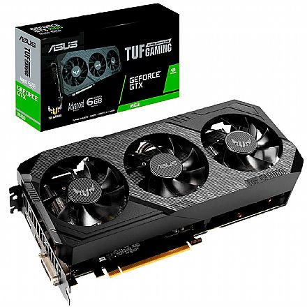 GeForce GTX 1660 6GB GDDR5 192bits - TUF Gaming X3 - Asus TUF3-GTX1660-A6G-GAMING