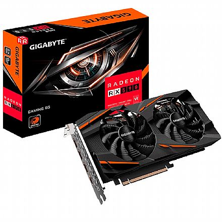 AMD Radeon RX 590 8GB GDDR5 256bits - Gaming 8G REV 2.0 - Gigabyte GV-RX590GAMING-8GB