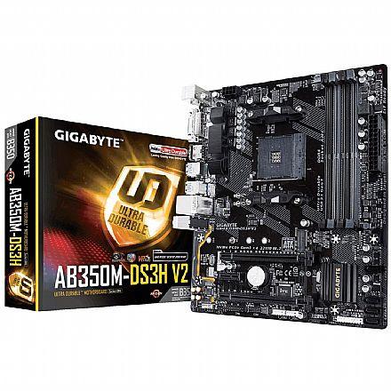 Gigabyte GA-AB350M-DS3H (AM4 - DDR4 3200 O.C.) - Chipset AMD B350 - Slot M2 - USB 3.1 - Micro ATX