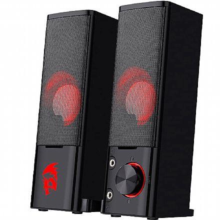 Caixa de Som 2.0 Redragon Orpheus - 3W RMS - LED Vermelho - GS550