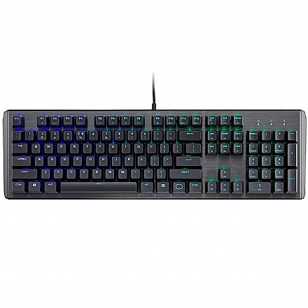 Teclado Mecânico Cooler Master CK550 - ABNT2 - LED RGB - Switch Gateron Brown - CK-550-GKGM1-BR