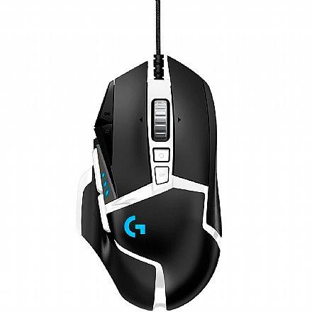 Mouse Gamer Logitech G502 Hero SE - 16000dpi - 11 Botões Programáveis - Controle de Peso - com LED RGB - 910-005744