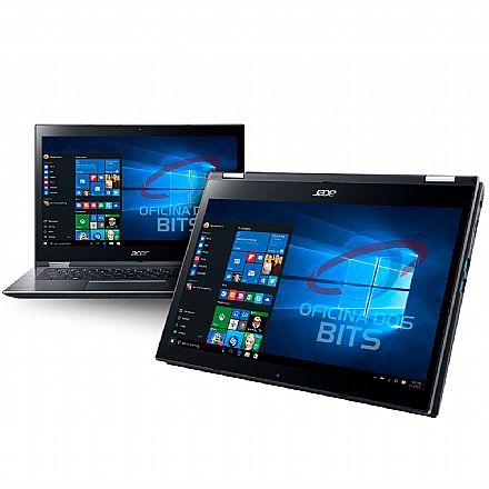"""Notebook Acer Spin 3 SP314-51-31RV 2 em 1 - Tela 14"""" Touch HD, Intel i3 7020U, 4GB, SSD 120GB, Windows 10"""