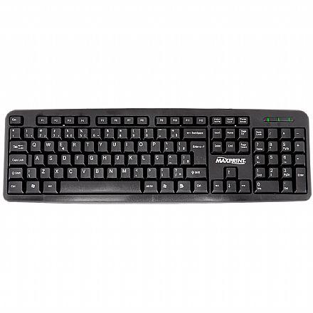 Teclado Maxprint Desktop - USB - ABNT2 - Preto - 608145