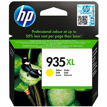Cartucho HP 935XL Amarelo - C2P26AB - Para HP Officejet Pro 6830 / HP Officejet Pro 6230