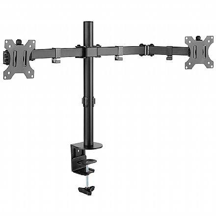 """Base ajustável para 2 Monitores / TVs até 32"""" Vinik - com Regulagem de Altura e Ângulo - Padrão VESA - SM-341A"""
