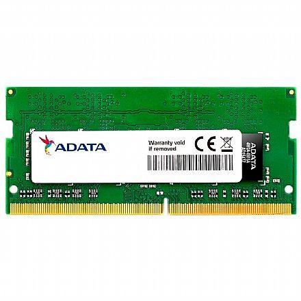 Memória SODIMM 4GB DDR4 2400MHz Adata - para Notebook - AD4S2400J4G17S