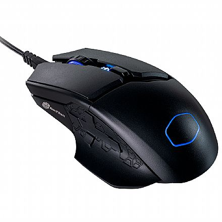 Mouse Gamer Cooler Master MM830 - 24000dpi - com LED RGB - 8 botões - MM-830-GKOF1
