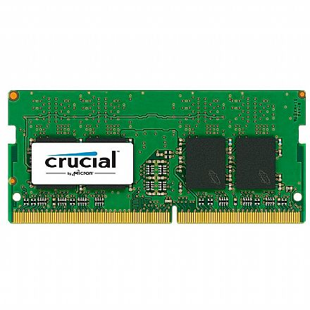 Memória SODIMM 4GB DDR4 2400MHz Crucial - para Notebook - Low Voltage 1.2V - CT4G4SFS824A