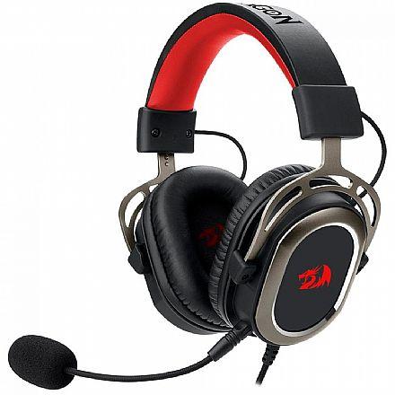 Headset Gamer Redragon Helios H710 - com Controle de Volume e Microfone - Conector 3.5mm removível - Compatível com PC / PS4 / PS3 / Xbox One X / Switch