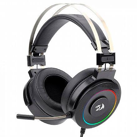 Headset Gamer Redragon Lamia H320RGB - USB - LED RGB - Compatível com PC / PS3 / PS4