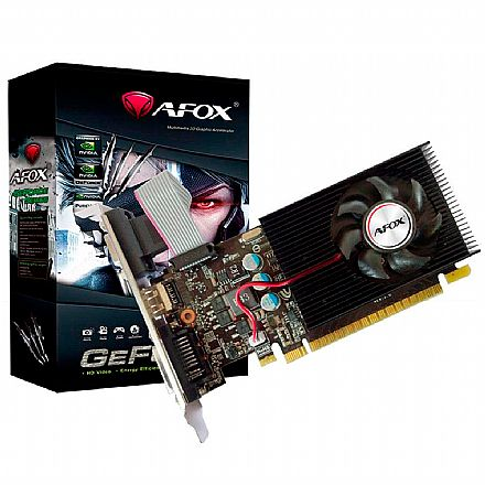 GeForce GT 730 4GB DDR3 128bits - Low Profile - AFOX AF730-4096D3L6