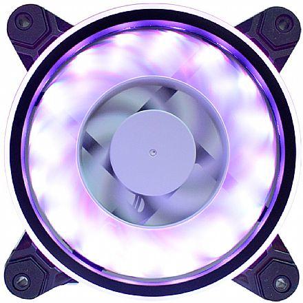 Cooler 120x120mm Gaming Master AF-Y1225 - com LED RGB Rainbow Slim Ring - AFY1225ID437K0