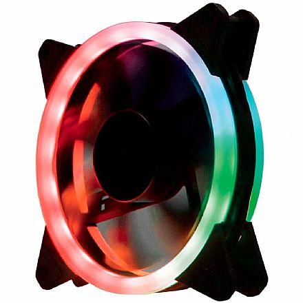 Cooler 120x120mm Gaming Master AF-J1225 - com LED RGB Rainbow - AFJ1225ID437K0X