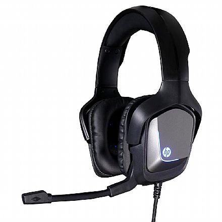 Headset Gamer HP H220GS - Som Virtual 7.1 Surround - com Microfone - USB - Iluminação LED - 8AA12AA