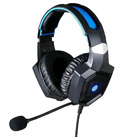 Headset Gamer HP H320 - com Microfone - Conectores 3.5mm - USB - LED Azul - 8AA13AA
