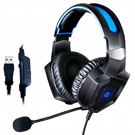 Headset Gamer HP H320GS - Som Virtual 7.1 Surround - com Controle de Volume e Microfone - USB - Iluminação LED - 8AA14AA