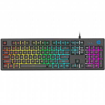 Teclado Gamer HP K500F - Iluminação RGB - Estrutura Metálica - ABNT2 - 7ZZ97AA