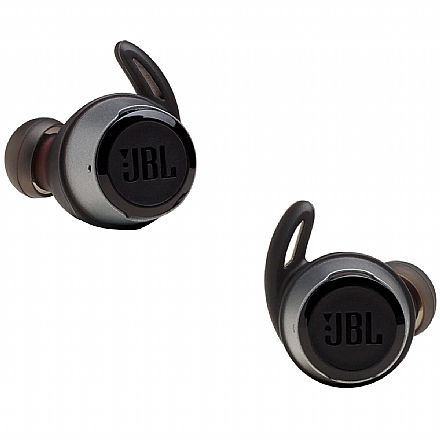 Fone de Ouvido Bluetooth Intra-Auricular JBL Reflect Flow - com Microfone - A prova d`água - Preto - JBLREFFLOWBLK