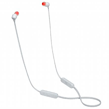 Fone de Ouvido Bluetooth Intra-Auricular JBL Tune 115BT - com Microfone - Branco - JBLT115BTWHT