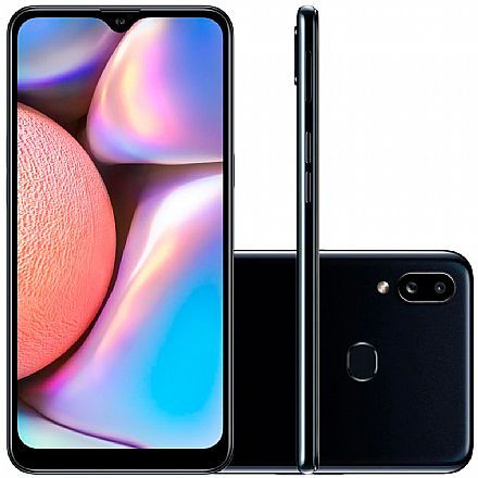 "Smartphone Samsung Galaxy A10s - Tela 6,2"" HD+, 32GB, Dual Chip 4G, Câmera Dupla 13MP - Preto - A107M/32DL"