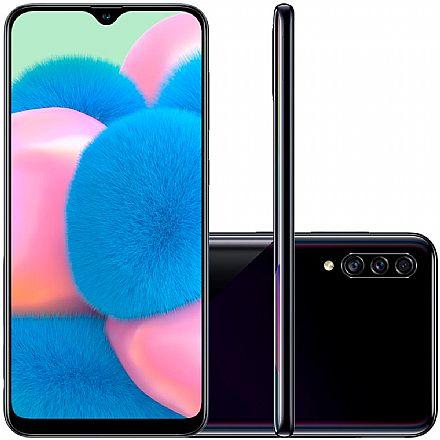 "Smartphone Samsung Galaxy A30s - Tela 6,4"" HD+, 64GB, Dual Chip 4G, Câmera Tripla 25MP - Preto - A307GT/6DL"