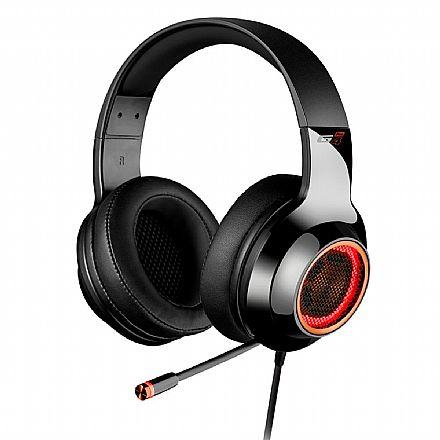 Headset Gamer Edifier G4 Pro - 7.1 Canais - com Vibração e LED - Microfone Retrátil - Preto