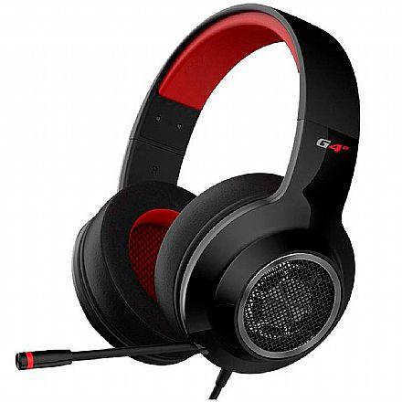 Headset Gamer Edifier G4 SE - com Controle de Volume e Microfone Retrátil - Conector 3.5mm - Preto - G4SE-BK