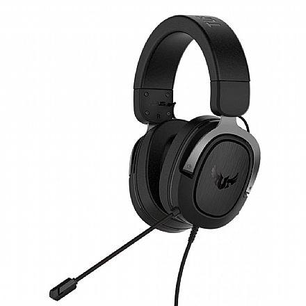 Headset Gamer Asus TUF Gaming H3 - com Microfone - 7.1 Canais - Conector 3.5mm - Cinza Escuro - 90YH028G-B1UA00