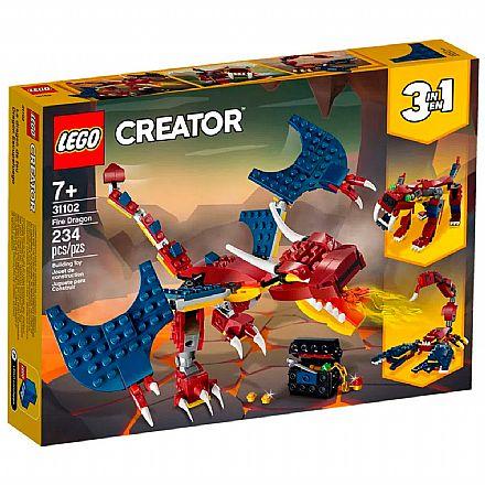 LEGO Creator - Dragao de Fogo - 31102